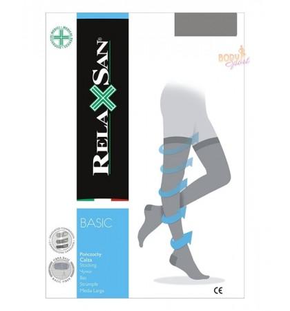 Компрессионные чулки 2 класса Relaxsan Basic 970А с открытым носком (280 den)