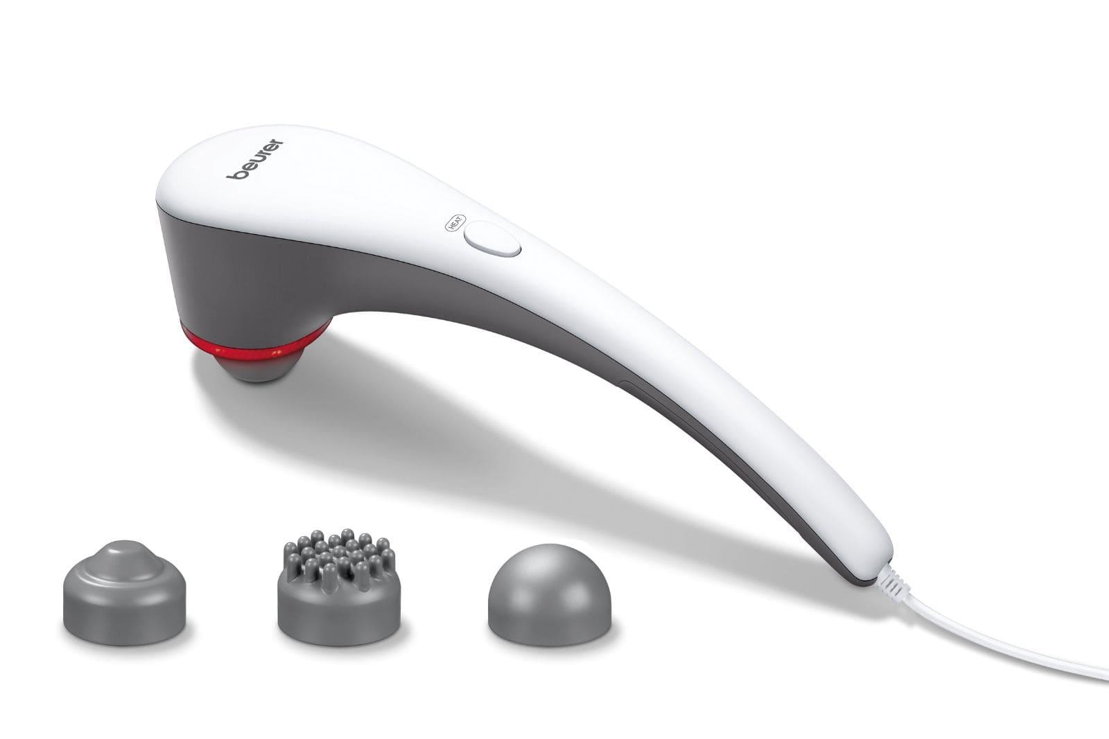 ручной электрический вибрационный массажер для тела beurer mg 55 с насадками